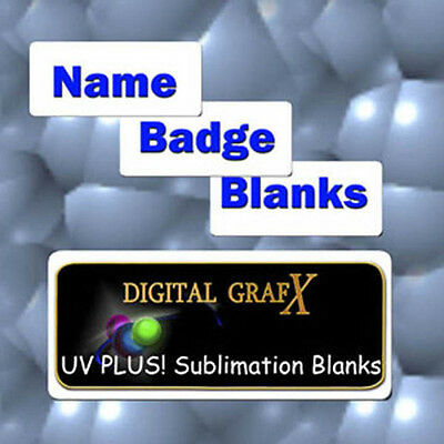 """50ea High Gloss Aluminum Name Badge Blanks for Sublimation 1-1/2"""" x 3"""""""