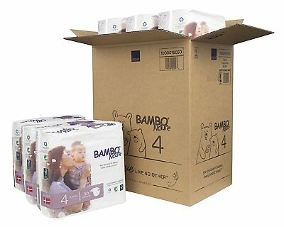 Bambo Nature Baby Diapers - Size 4 (15-40Lbs/7-18kg) - 6 Packs/180 Count