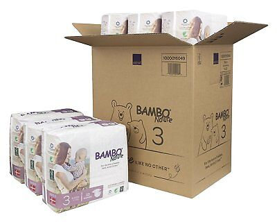 Bambo Nature-Premium Baby Diapers, Size 3 (9-20Lbs/4-9kg) - 6 Packs/198 Count