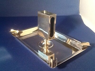 Vintage Tiffany & CO  Sterling Silver Ashtray with Match Holder