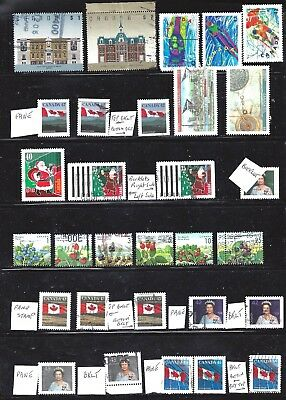 Canada SELECTION OF 30 DIFFERENT 42-45 CENT ERA USED (BS10726)
