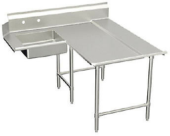 "Elkay Spokane Spec-Line L- Soiled Dishtable 84"" - SLDDTLE-84-R"