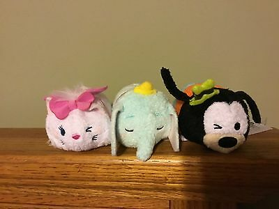 Disney tsum tsum set  Dumbo Marie Goofy New