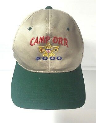 Camp Orr 2000 Boy Scouts Of America BSA Cub Scout Ball Cap Hat Snap Back WestArk