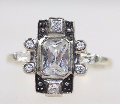 Art Deco Vintage Style Silver Ring