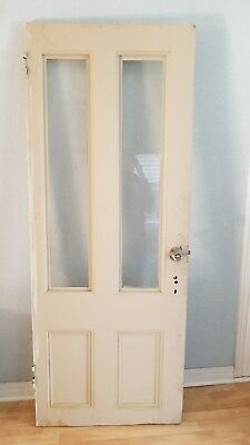 Antique Solid Wood Glass Front Door