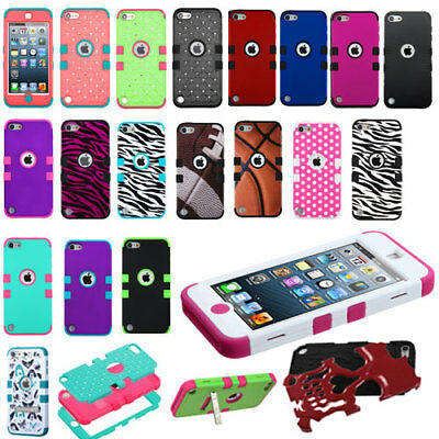 For iPod Touch 5th 6th Gen Hybrid High Impact Rugged Armor Protective Hard Case