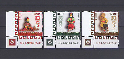 KARABAKH (ARMENIA), EUROPA CEPT 2015, OLD TOYS with CORNER MARGINS, MNH