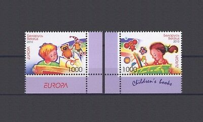 BELARUS, EUROPA CEPT 2010, CHILDREN'S BOOKS with MARGINS, MNH