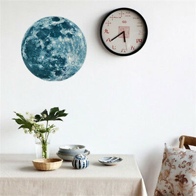 20cm 3D Big Moon Fluorescent Wall Sticker Removable Glow In The Dark Sticker