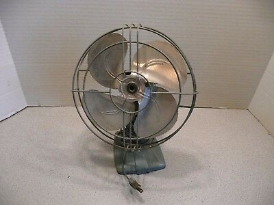 Vintage A.C. Gilbert oscillating Electric Fan A420 ~ working condition