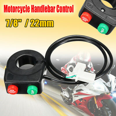 "7/8"" Motorcycle ATV Bike Handlebar Horn Turn Signal On/Off Light Switch Control"