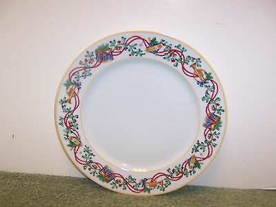 """BEAUTIFUL BLOCK SPAL """"WHIMSY CHRISTMAS"""" DINNER PLATE 10 5/8""""  1992 Discontinued"""