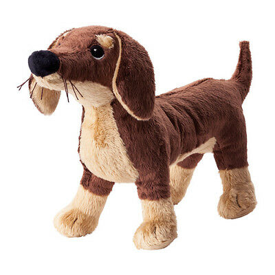 IKEA Sausage Dog Toy, Brown Soft Toy Brand New