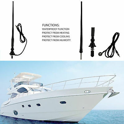 Marine Radio Antenna Flexable Rubber Mast Boat Stereo Car AM/FM Radio Antenna