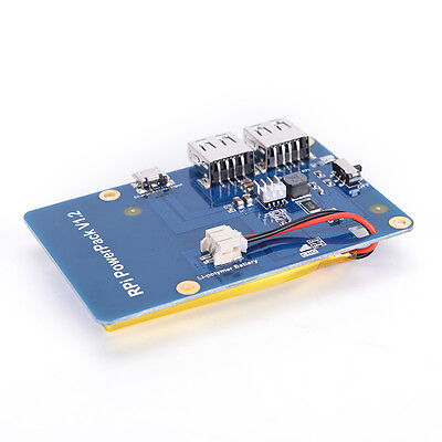 Lithium Battery Pack Expansion Board Power Supply with Switch for Raspberry Pi F
