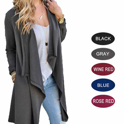 Womens Winter Knitted Sweater Casual Jacket Oversize Cardigan Jumper Coat