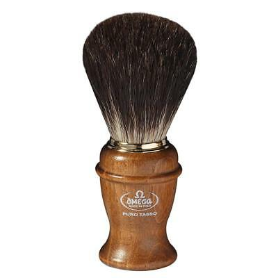 Pennello Da Barba Tasso Omega 6191 Legno Di Frassino Shaving Brush