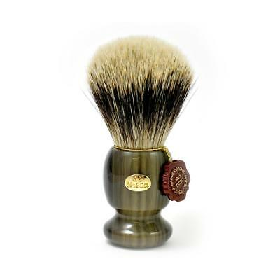 Pennello Da Barba Tasso Argentato Omega 6215 Shaving Brush Silver Tip Made Italy