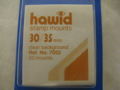 250 (5x50) HAWID 30/35MM STAMP MOUNTS CLEAR -HIGH VALUE - SUPPLIES