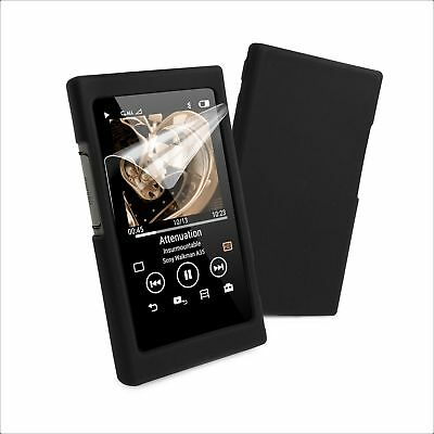 Tuff-Luv Sony NW-A35 / A36 / A37 Silicone case & Screen Protection - Black