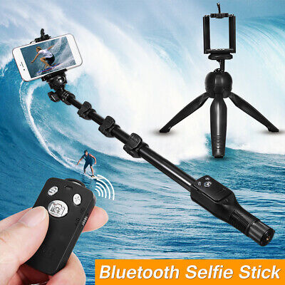 bluetooth Extendable Handheld Selfie Stick Monopod Tripod For Smart Cell Phone