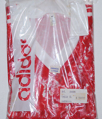 Deadstock Adidas Football Shirt Silky Shiny Glanz Original Red Cccp 80