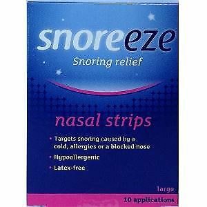 Snoreeze Snoring Relief Nasal Strips Large 10 Strips