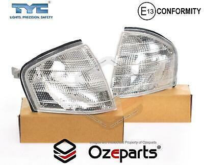 Set Pair LH+RH Corner Light Indicator Lamp For Mercedes Benz C Class W202 94~01