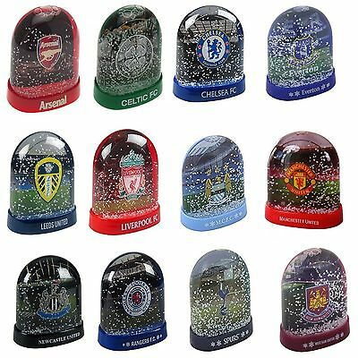 Official Football Merchandise Xmas Novelty Snow Domes Great For Fans Crest
