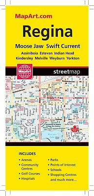 Regina Moosejaw  Map - 1168 - MapArt- Brand New! Saskatchewan SK