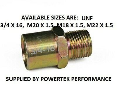 Oil Filter Adapter Screw 3/4 Inch-UNF 3/4-16 for Sandwich Plate  4 SIZES AVAIL.