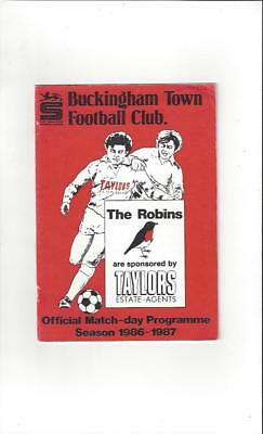 Buckingham Town v Dunstable Town FA Cup 1986/87 Football Programme