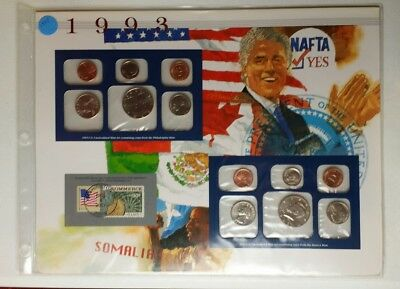 1993 United States Uncirculated Set of Coins in a Display Holder