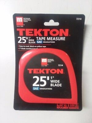 Tekton 25' Measuring Tape retractable 25 foot x 1 inch 7214