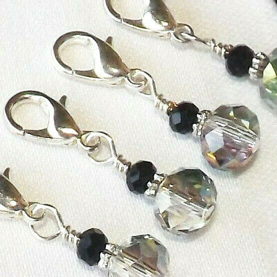 buy real unparalleled outlet online CROCHET / KNITTING Handmade Beaded Stitch Markers. Swarovski ...