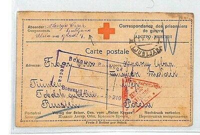 BM341 1916 WW1 Ljubljana Austria Empire Card Slovenia PTS