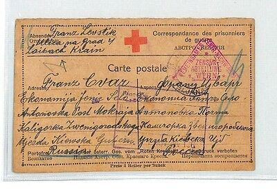 BM342 1917 WW1 Ljubljana Austria Empire Card Slovenia PTS