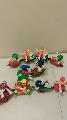 M&M's Collectible Mini Christmas Train candy topper 10 Piece lot