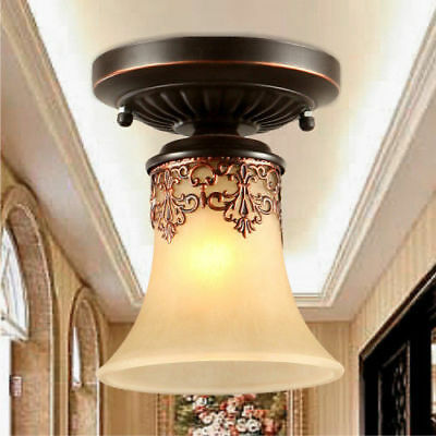 Mini Antique Flush Mount Ceiling Light Vintage Retro Chandelier Pendant Lights