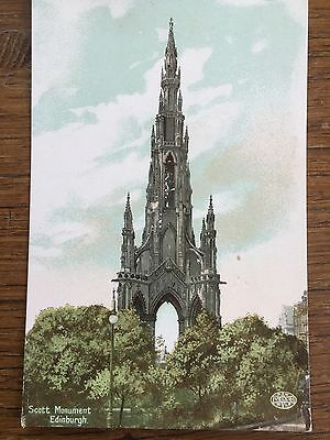 Scottish Postcard Scott Monument EDINBURGH East Lothian Scotland B/W PHOTO