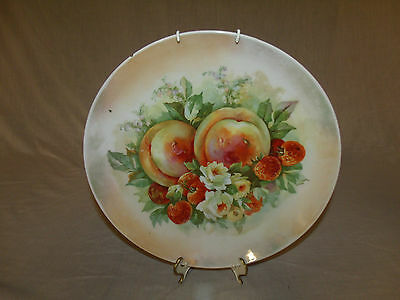 "Large ANTIQUE/VTG Germany THREE CROWN CHINA Hand Painted 12"" COLLECTOR PLATE"