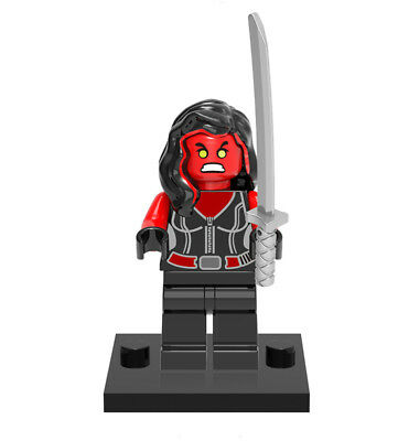 Minifigures Collectible Red She-Hulk Movie Betty Ross Super Heroes Building Toys