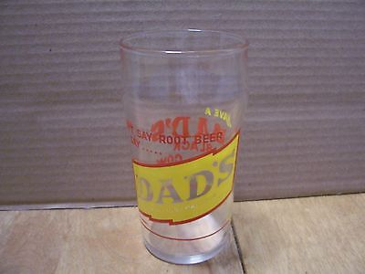 1950's Dad's Root Beer Syrup Line Glass, DON'T SAY ROOT BEER, SAY...DAD'S