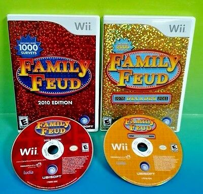 Family Feud  2010 Edition + Family Feud Decades - 2 Nintendo Wii Game Show Games