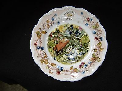 """Rare Royal Doulton """"Brambly Hedge"""" 1998    MINT    8 Inch Plate   Disc 2006"""