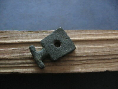 """stylized Battle Axe Amulet"" Ancient Celtic Bronze Votive Pendant 500-300 B.c."