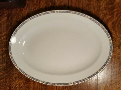 """Grindley Monmouth Smooth Edge 16"""" Oval Platter"""