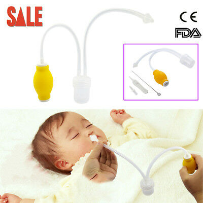 SALE!Nose Cleaner Sucitoning Device Baby Safe Vac Nasal Aspirator Fit Infants CE