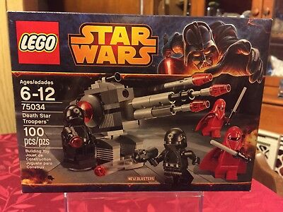 SEALED 75034 LEGO Star Wars DEATH STAR TROOPERS Imperial Royal Guards Gunners
